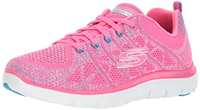 Skechers Flex Appeal Blau, 2.0 New Gem Damen Sneaker Pink Blau, Appeal Größe 40 943b8d