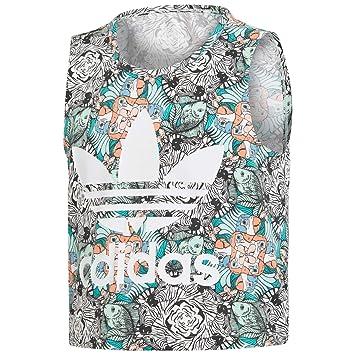 Adidas J Zoo Tank - Camiseta, Niña, (MULTCO/Blanco): Amazon.es: Deportes y aire libre