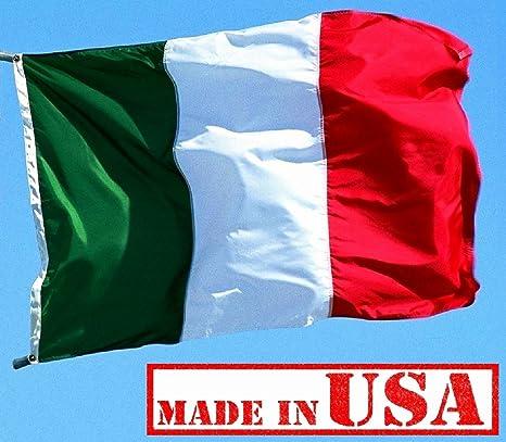 c0585ff9 Amazon.com : US Flag Factory 3x5 FT Italy Italian Flag (Sewn Stripes ...