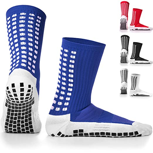 ecf474a3a Amazon.com : LUX Anti Slip Soccer Socks, Non Slip  Football/Basketball/Hockey Sports Grip Socks : Clothing