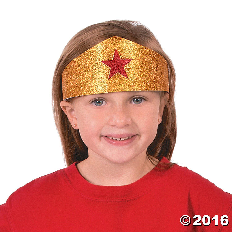 Gold Superhero Tiaras - 12 ct