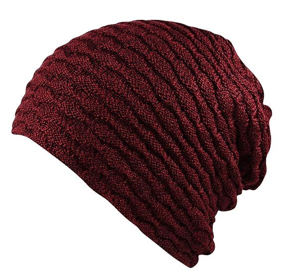 3ed8de1b Itzu Premium Unisex Slouch Beanie Ribbed Knit Winter Hat Warm Thick Faux  Fur Fleece Lining in