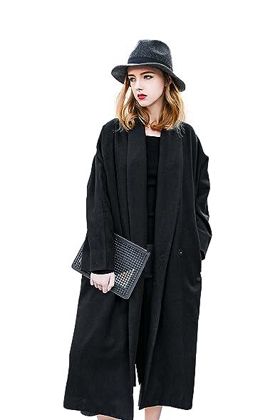 Amazon.com: YOU.U Giuliana Women Winter Long Wool Trench Coat with ...