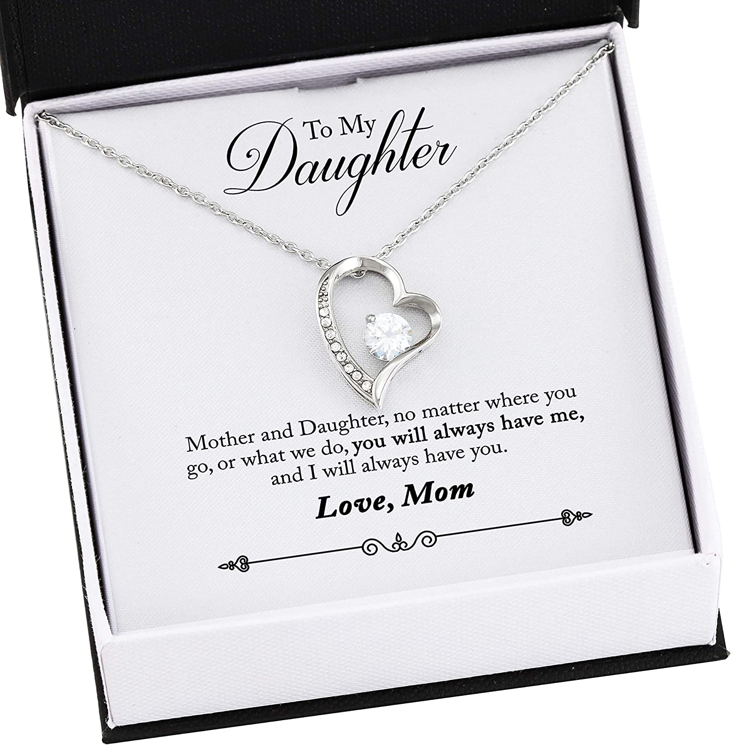 Luong Gia Manh to My Daughter Mother and Daughter No Matter Where You Go Or What We Do You Will Always Have Me and I Will Always Have You Custom Name Forever Love Necklace