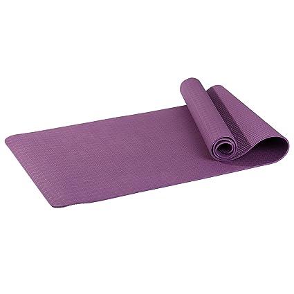 Asvert Esterilla de Fitness Antideslizante de TPE 100% Profesional Colchoneta de Yoga Gruesa para Deporte