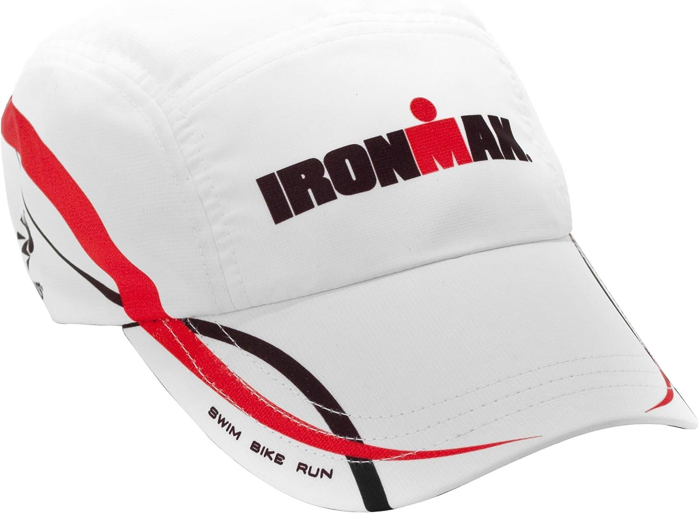 Headsweats - Gorra para triatlón, diseño de Ironman, Color Rojo y ...