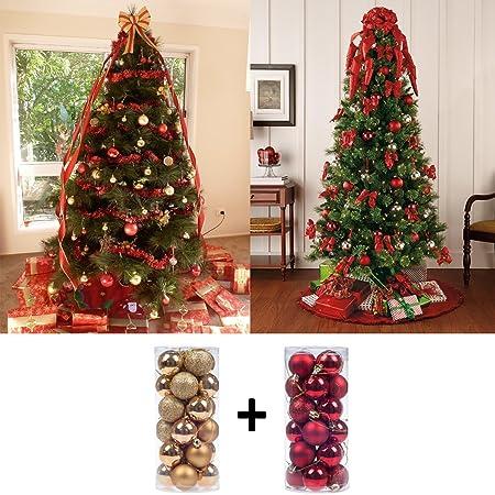 Christmas Tree Decoration Shiny Matte Glitter Christbaumschmuck