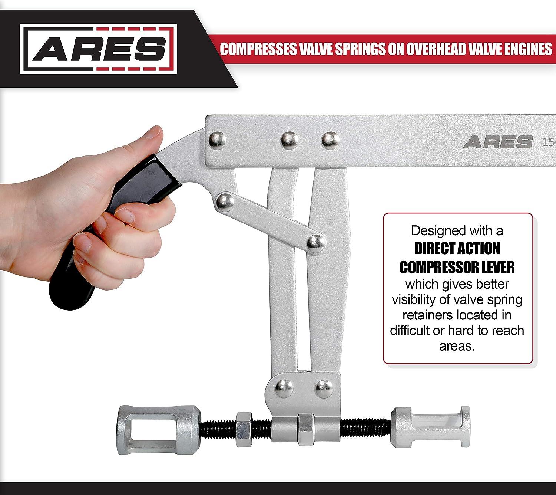 ARES 15017 Compresses Valve Springs on Overhead Valve Engines Valve Spring Compressor Direct Action Compressor Lever Gives Better Visibility During Compression
