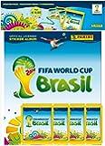 FIFA WM 2014 Sticker Hardcover Starterset Deluxe (Album + 4 Tüten) [Import allemand]