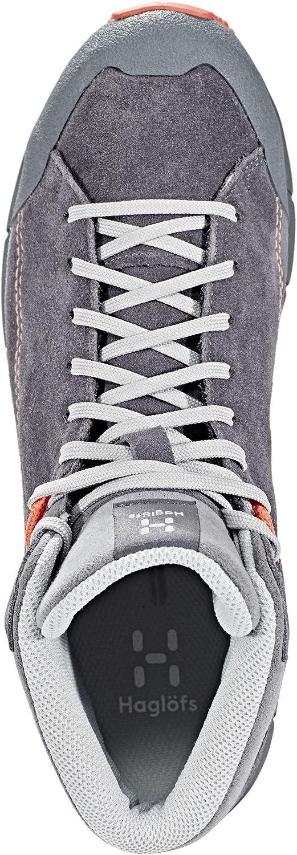 Haglöfs Roc Lite Mid, Zapatillas de Deporte para Mujer, Negro (Magnetite/Coral Pink 43l), 36 2/3 EU: Amazon.es: Zapatos y complementos