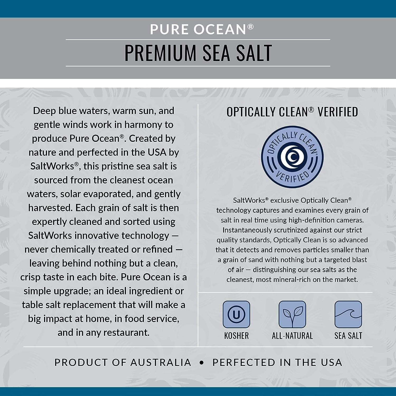 SaltWorks Pure Ocean Sea Salt, Coarse Grain, 5 Pound Bulk Bag: Grocery & Gourmet Food