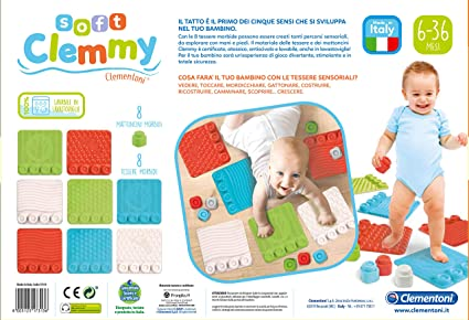 Clementoni 17313 Soft Clemmy tapijt, kat, speelgoed