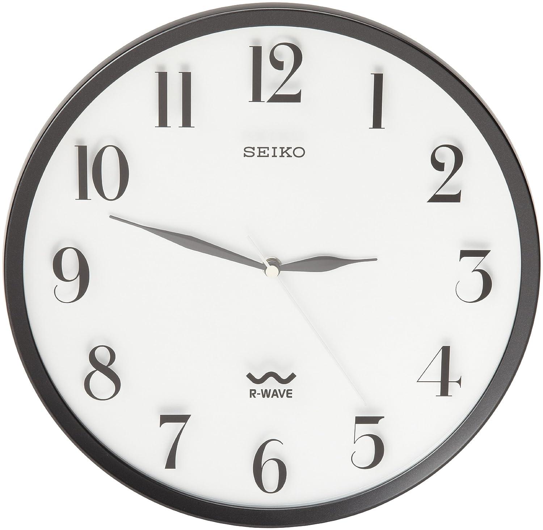Amazon seiko r wave wall clock silver metallic case watches amipublicfo Choice Image