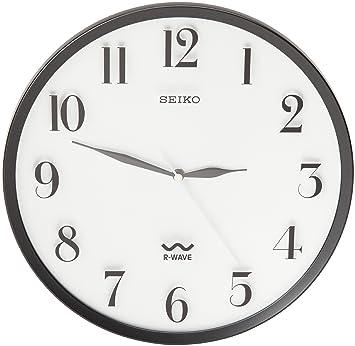Amazon.com: Seiko R Wave Wall Clock Black Metallic Case: Watches
