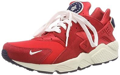 Nike Men s Air Huarache Run PRM Gymnastics Shoes, (University Red Sail  Blackened 6374c5305f