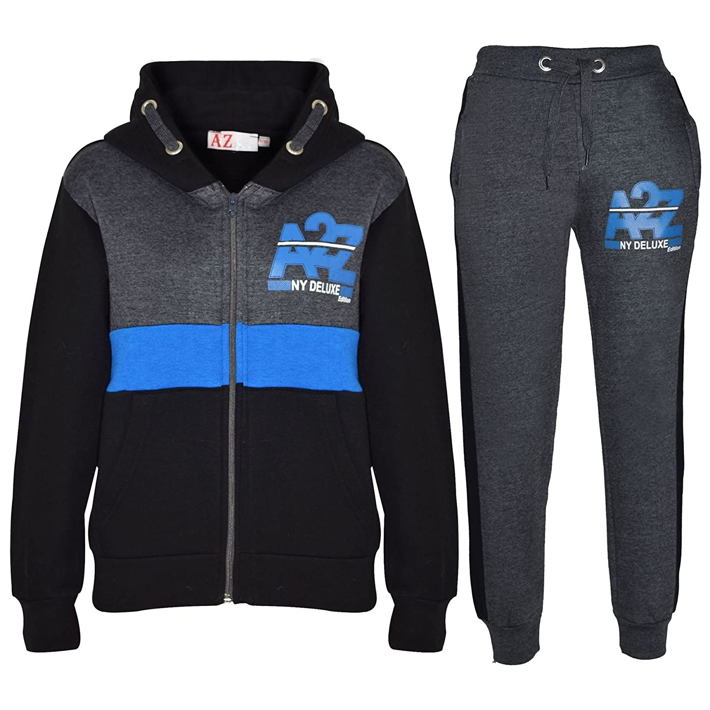 Kids Jogging Suit Boys Girls Designer's Tracksuits Zipped Tops Bottom 7-13 Years