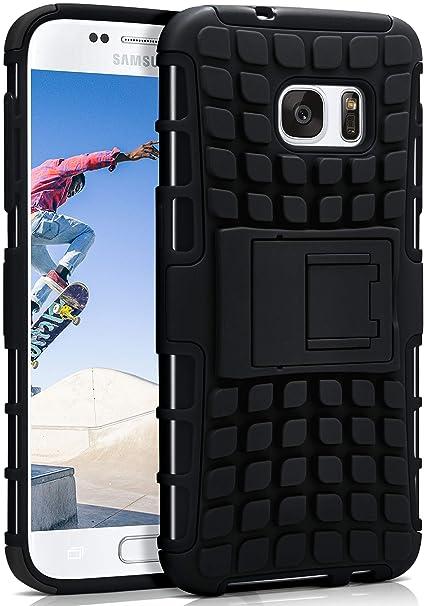 7e3e76c6ec869e ONEFLOW Samsung Galaxy S7 | Hülle Silikon Hard-Case Schwarz Outdoor  Back-Cover Extrem