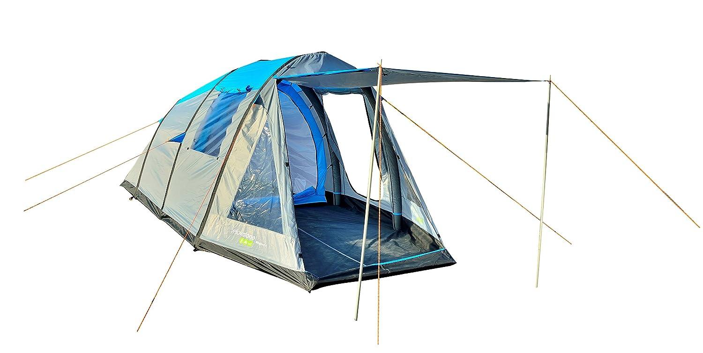 Gelbstone Wingfoot 4 Person Air Zelt Blau und Grau