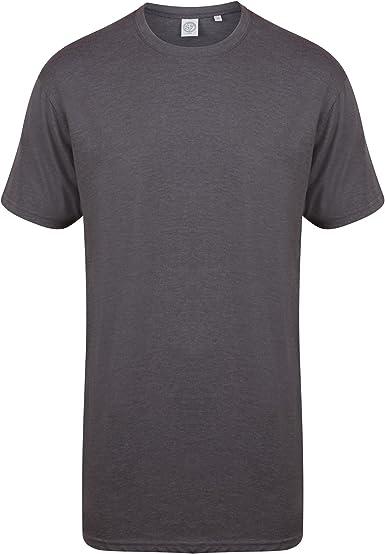 Skinnifit - Camiseta larga Modelo Longline Dipped hombre caballero