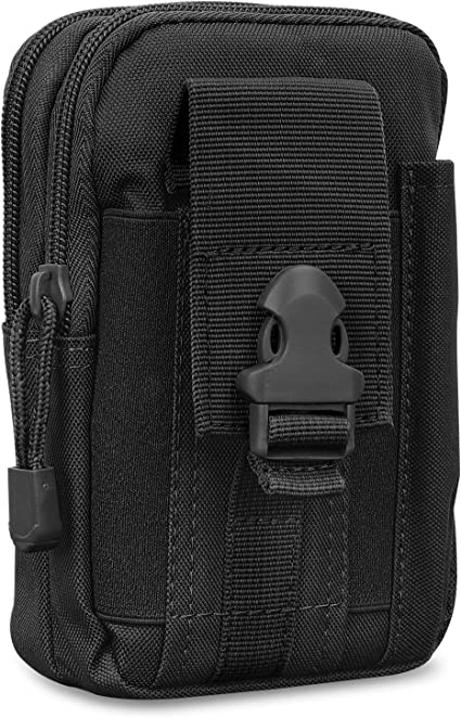 iPhone Xs Max//XR//Xs Black MoKo Tactical Phone Holster Huawei P30//P30 Pro Galaxy S10e//S10//S10 PLUS Universal Outdoor Waist Bag EDC Molle Pouch Belt Waist Bag Case Fit with 6.5 Phone