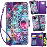 Vofolen Case for Galaxy Note 9 Wallet Leather PU Flip Cover Folio Detachable Magnetic Slim Shell Dual Layer Heavy Duty Protec