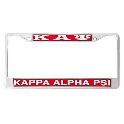 Desert Cactus Kappa Alpha Psi Metal License Plate Frame for Front Back of Car Nupe (Metal - Standard): Automotive
