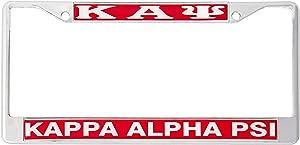 Desert Cactus Kappa Alpha Psi Metal License Plate Frame for Front or Back of Car Nupe (Metal - Standard)