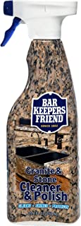 product image for Bar Keepers Friend Granite & Stone Cleaner & Polish (25.4 oz) Granite Cleaner for Use on Natural, Manufactured & Polished Stone, Quartz, Silestone, Soapstone, Marble - Countertop Cleaner & Polish (1)