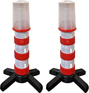 Road Emergency Beacon LED Flare KIT (Red + Blue) with Storage Case