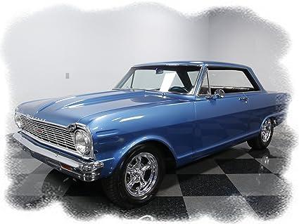 Old Chevy Cars >> Amazon Com 1965 Chevrolet Chevy Nova Metallic Blue Mouse Pad