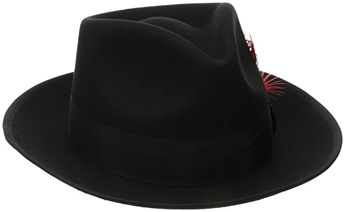 SCALA Medium Brim Fedora Hats for Men - Fedora Black Snap Brim ... b476c07a0b0b