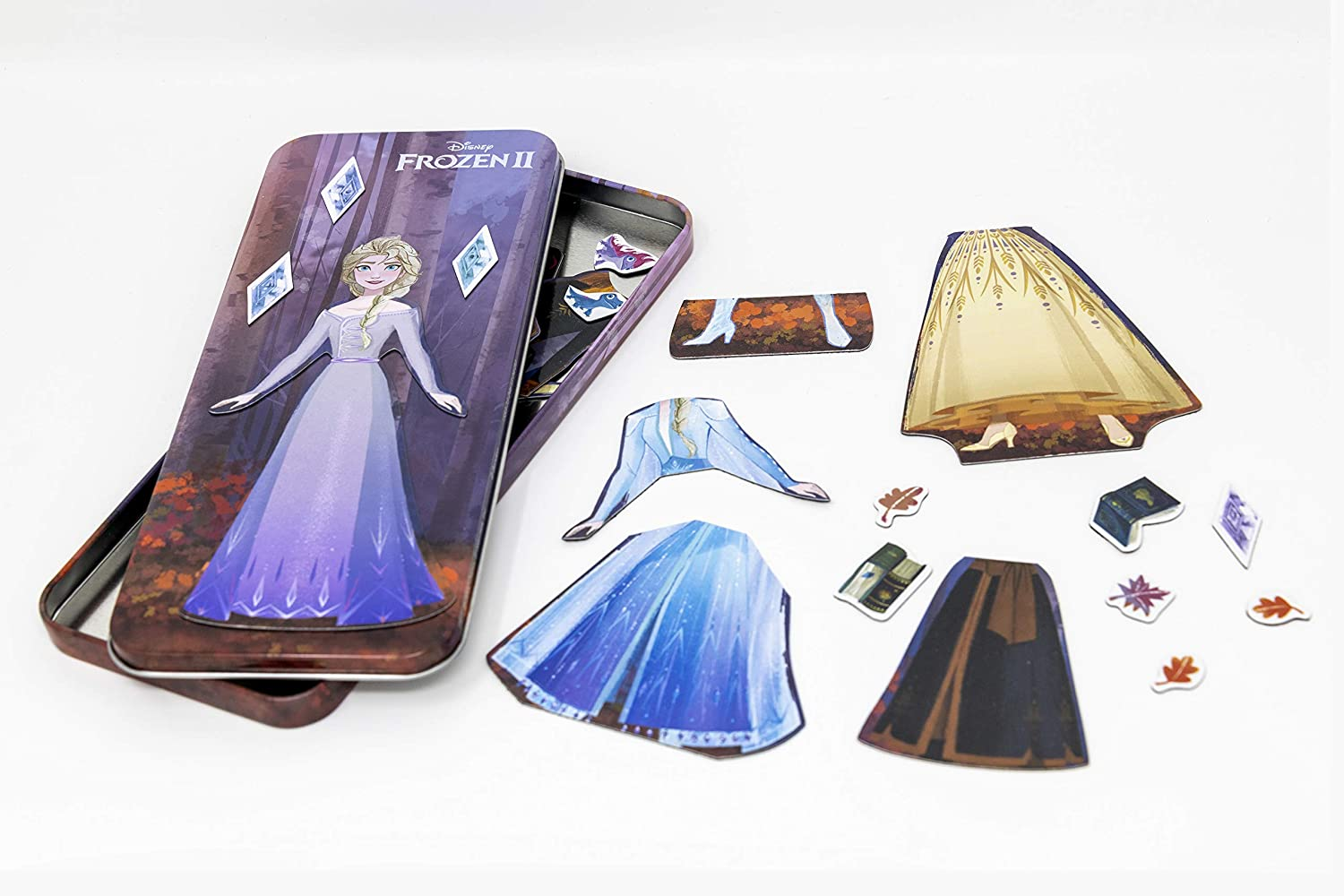 Disney Frozen 2 Anna and Elsa 23-Piece Magnetic Doll Tin