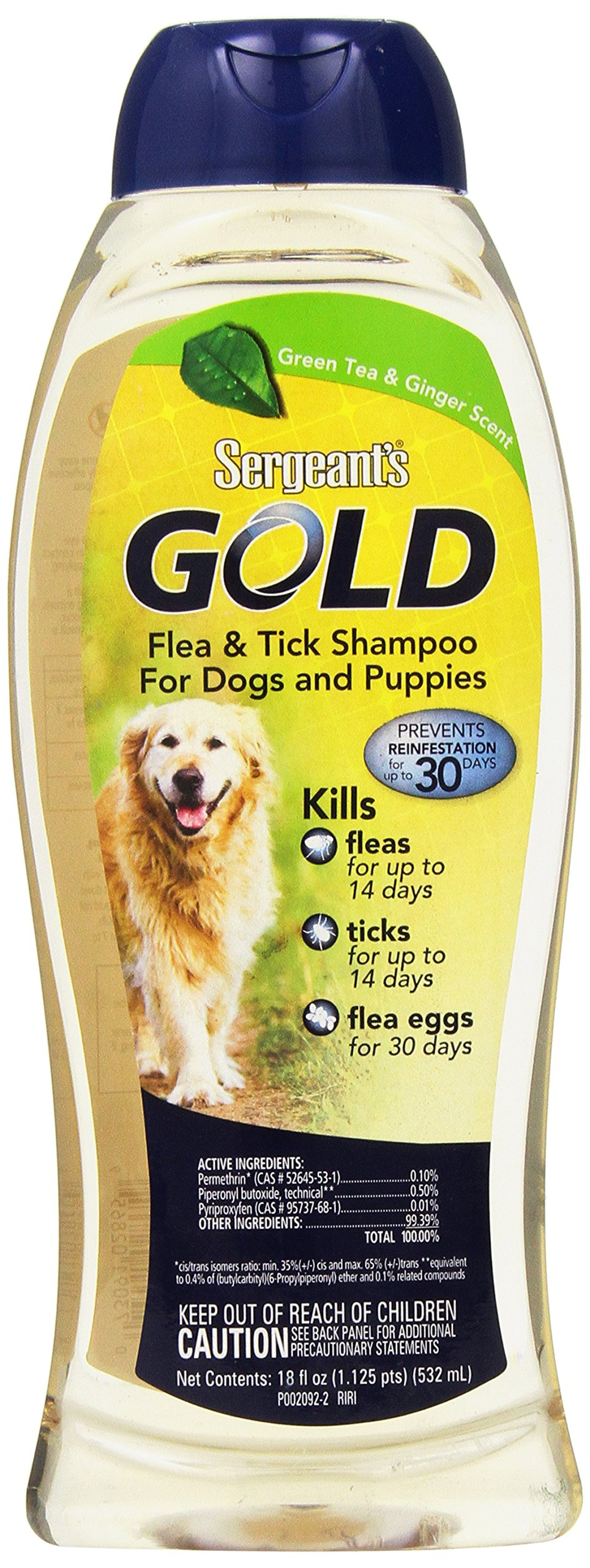 Sergeant's Gold Flea and Tick Shampoo for Dogs, 18 oz