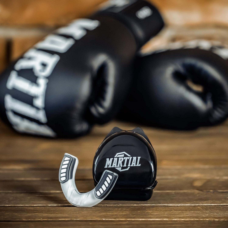 Zahnschutz in verschiedenen Formen Kickboxen Football Martial Mundschutz f/ür ideale Atmung /& leicht anpassbar Erwachsene MMA Boxen Hockey F/ür Kampfsport