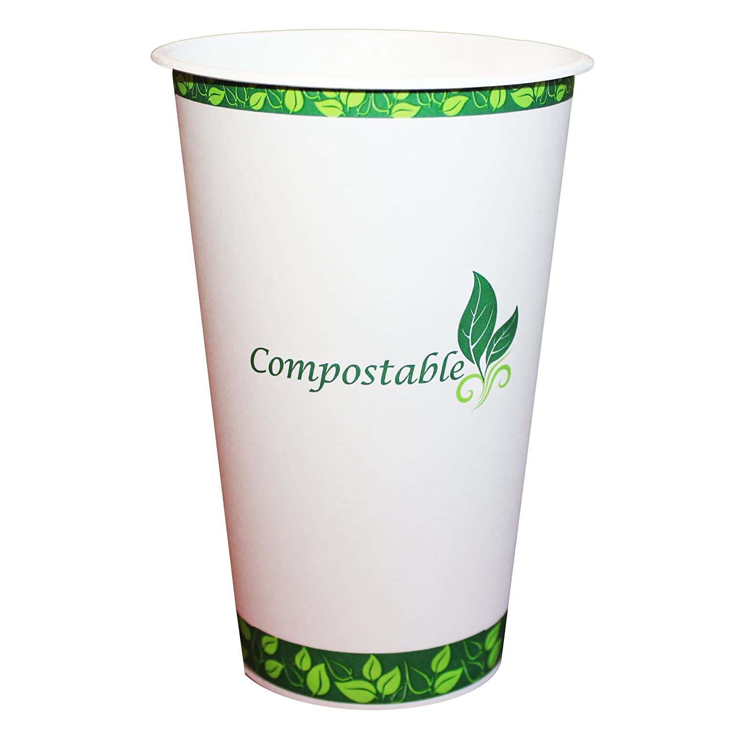 Image of Cups eco Kloud 16 oz Compostable Hot Paper Cups with PLA Lining (Pack of 1000)