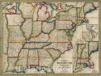 Amazon.com: Historic Map | Guide Book, Guide Through The ... on u.s. railroad map 1849, california map 1849, mexico map 1849, wisconsin map 1849, arizona map 1849, boston map 1849, texas map 1849, world map 1849, greece map 1849, nevada map 1849, europe map 1849,
