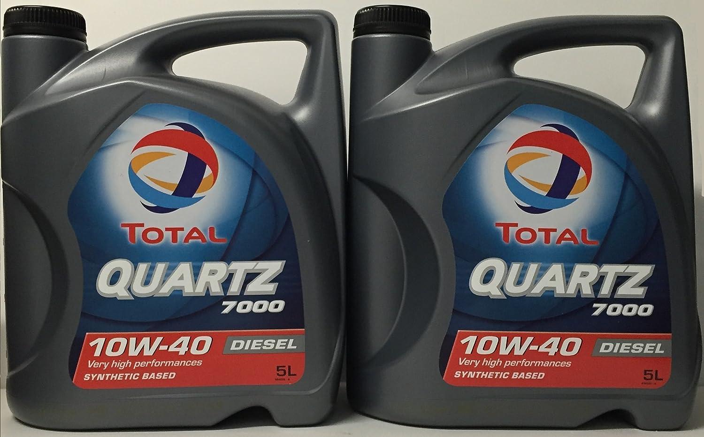 Total Quartz 7000 Diesel 10W40 10 LITROS (2x5 litros): Amazon.es: Coche y moto