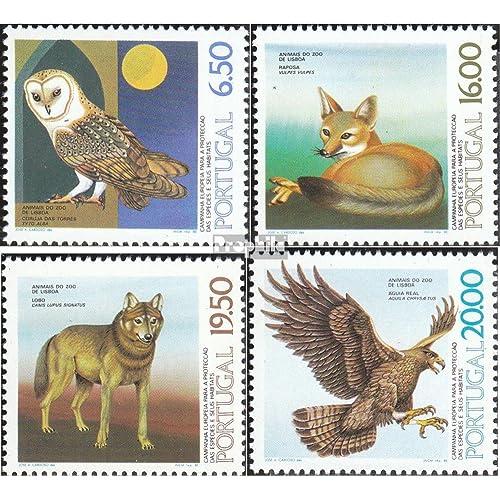 Portugal 1490y-1493y (complète.Edition.) 1980 Animaux dehors le Zoo lisbonne (Timbres pour les collectionneurs)