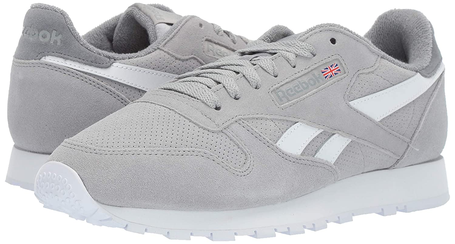 273ccec1974e3 Amazon.com | Reebok Men's Classic Leather Sneaker True Grey 11 M US ...