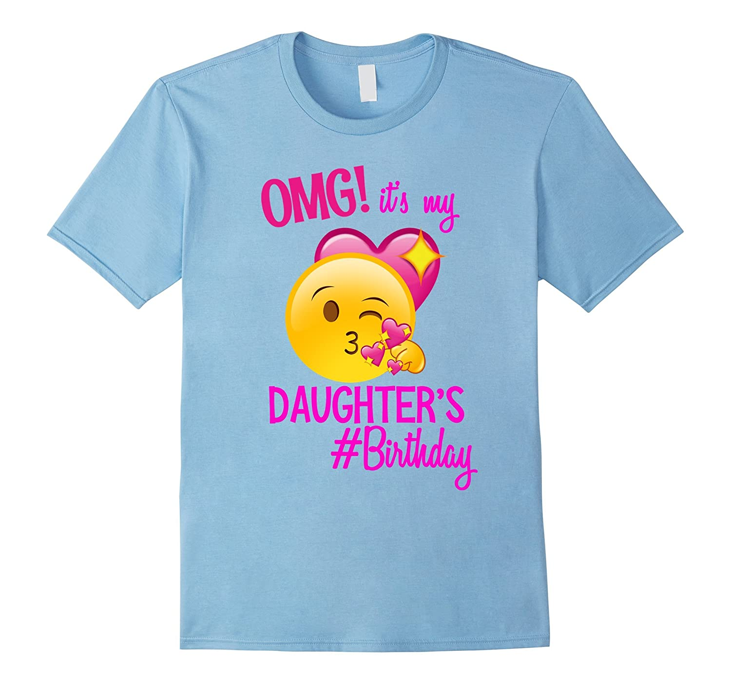Emoji Daddy Of The Birthday Girl Emoji Shirt-BN
