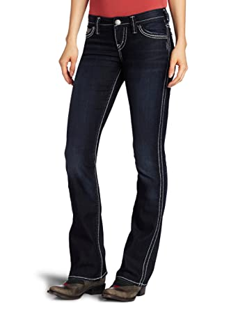 62ed7ee3 Silver Jeans Women's Frances 18 Dark Wash Bootcut Jean at Amazon Women's  Jeans store