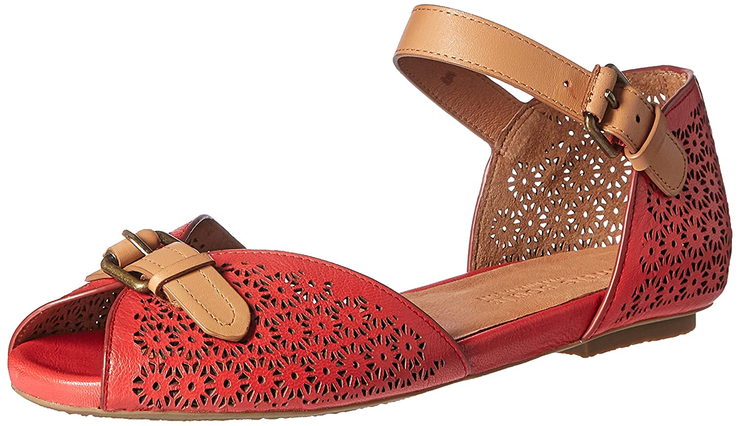 Gentle Souls by Kenneth Cole Women's Bessie Flat B01I0LIHH8 7 B(M) US|Red