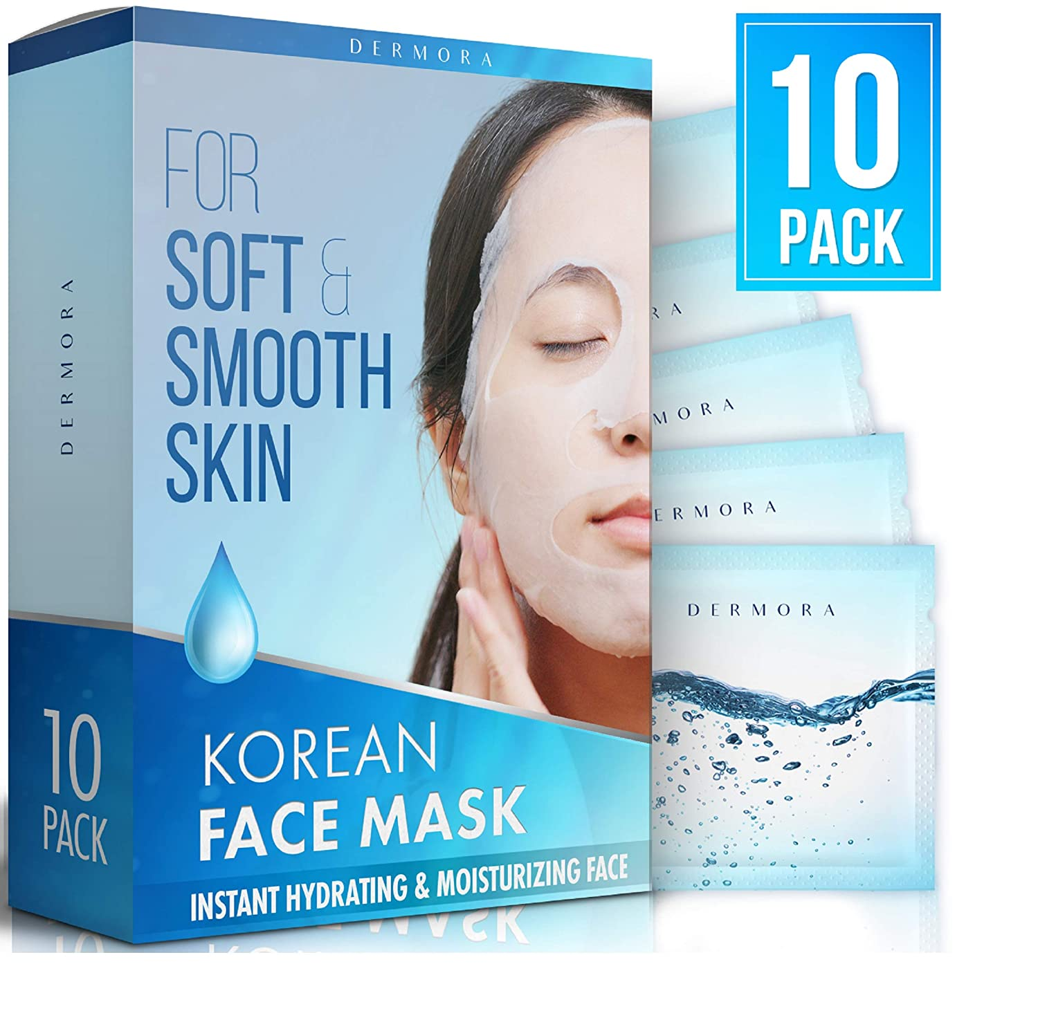 Amazon Com Korean Face Mask Instant Hydrating Moisturizing Face Make Your Skin Smooth Soft And Get Glowing And Bright Face 10 Pack With Snail Secretion Filtrate
