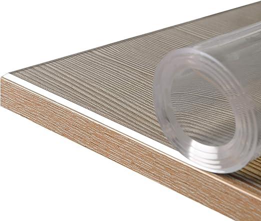 BEAUTEX Lámina Transparente de 2 mm + Bordes biselados, Protector ...