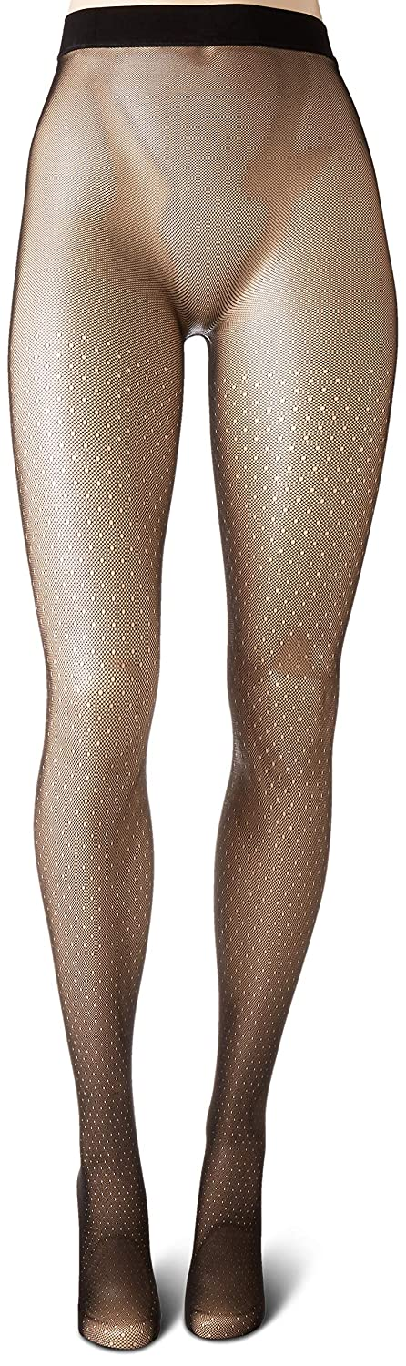 Hanes Womens Plus Size Curves Dot Net Tights