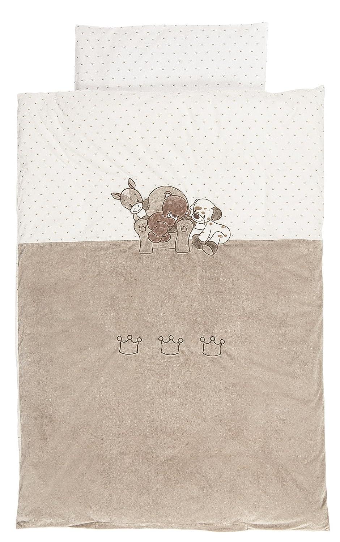 Nattou Bettwäsche 100x140 cm mit Kissenbezug 40x60 cm 777520 - Max - Noa & Tom - Nicki-Stoff