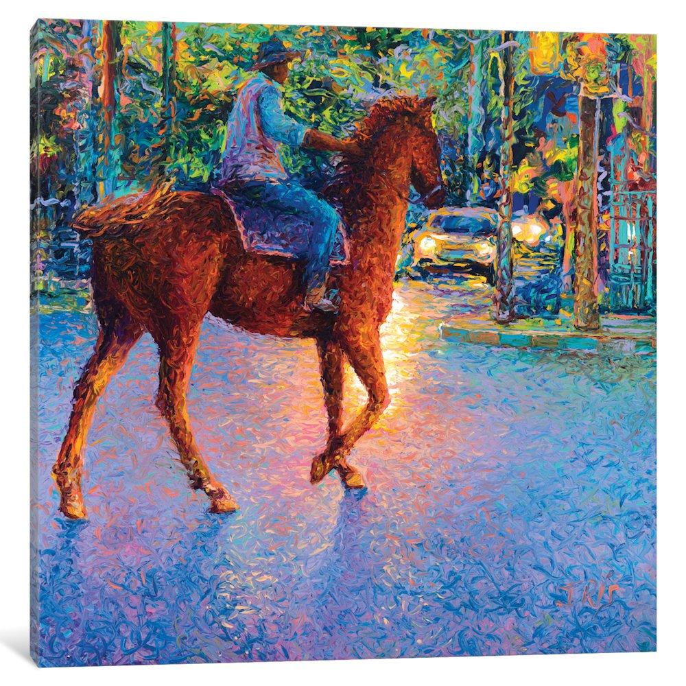 iCanvasART IRS161-1PC3-37x37 iCanvas My Thai Cowboy Gallery Wrapped Canvas Art Print by Iris Scott, 37'' X 0.75'' X 37''