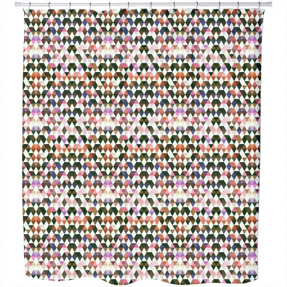 Uneekee Skill Games Of The Diamond Indians Shower Curtain: Large Waterproof Luxurious Bathroom Design Woven Fabric