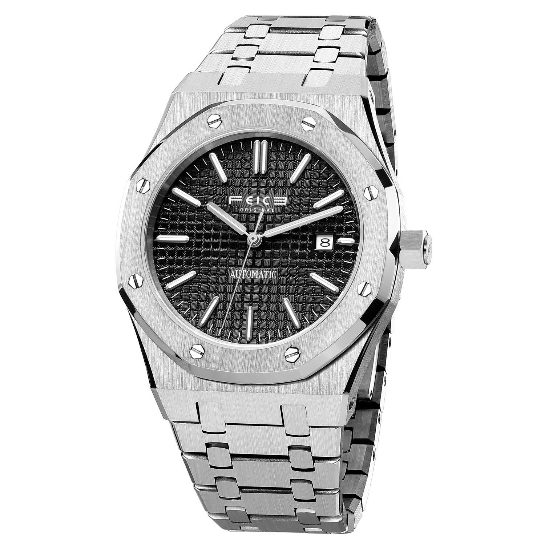 FEICE Reloj mecánico automático para hombre Relojes de vestir para hombres Reloj deportivo resistente al agua -FM019