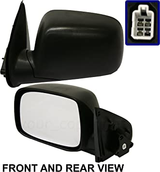 12 COLORADO Mirror Manual Textured Black NEW Driver CANYON Fits 04